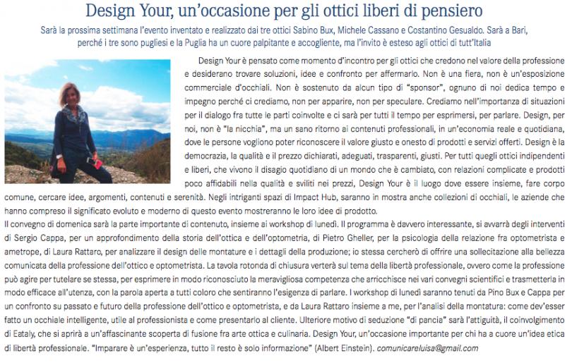 Design your un occasione per gli ottici liberi di pensiero for Design d occasione